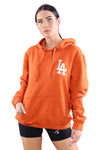 Majestic Womens LA The Duke Hoody Gold Flame Front