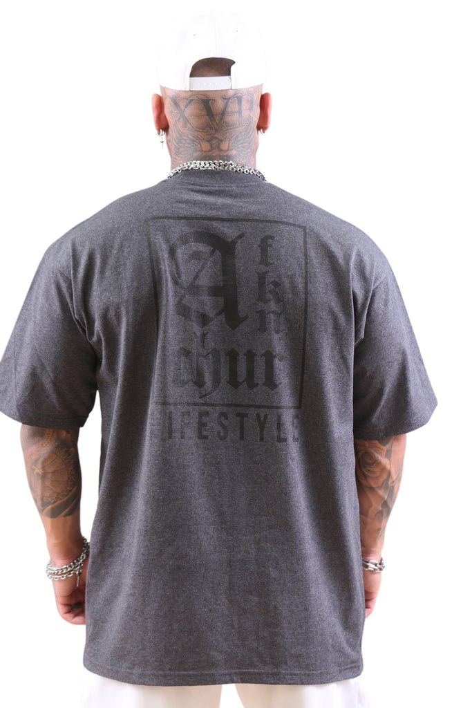 AFKNCHUR Lifestyle Tee Charcoal Back