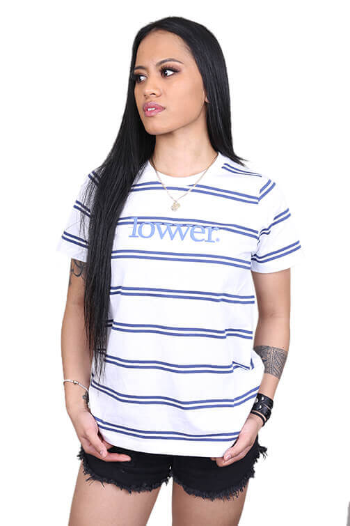 Lower Womens Applebox Cropped Tee Stripe Front