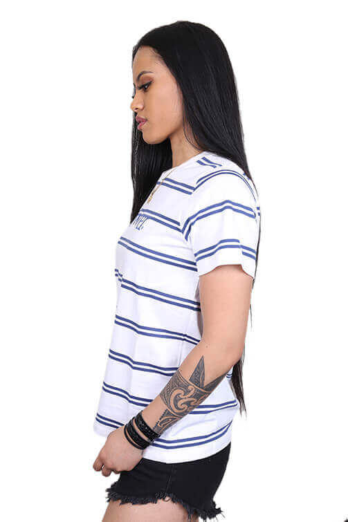 Lower Womens Applebox Cropped Tee Stripe Angle