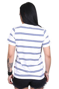 Lower Womens Applebox Cropped Tee Stripe Back