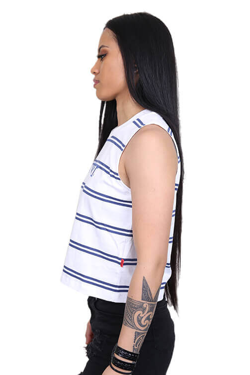 Lower Womens Applebox Cropped Tank Stripe Angle