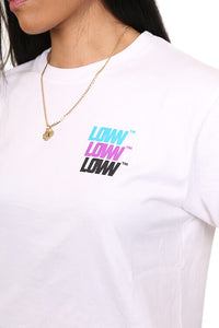 Lower Womens Low Stack Cropped Tee White Detail
