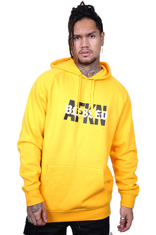 AFKNCHUR Blessed Hoody Yellow Front