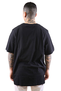 Russell Athletic Eagle R Crew Tee Black/Stone Grey Back