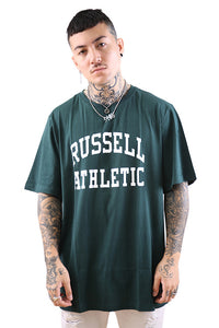 Russell Athletic Arch Logo Crew Tee Deep Pine Front