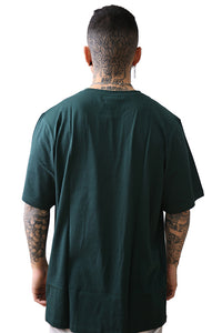 Russell Athletic Arch Logo Crew Tee Deep Pine Back