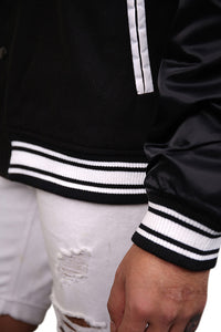 Majestic NY College Jacket Black Detail 4