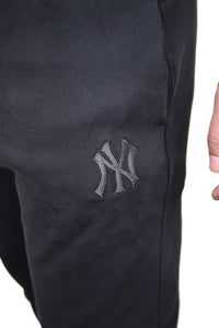 Majestic NY Players Patch Overdye Tracks Black Detail 2