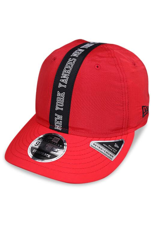 New Era 950 Retro Crown NY Scarlet Strapback Angle