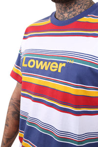 Lower Lowcase QRS Tee  Navy/White