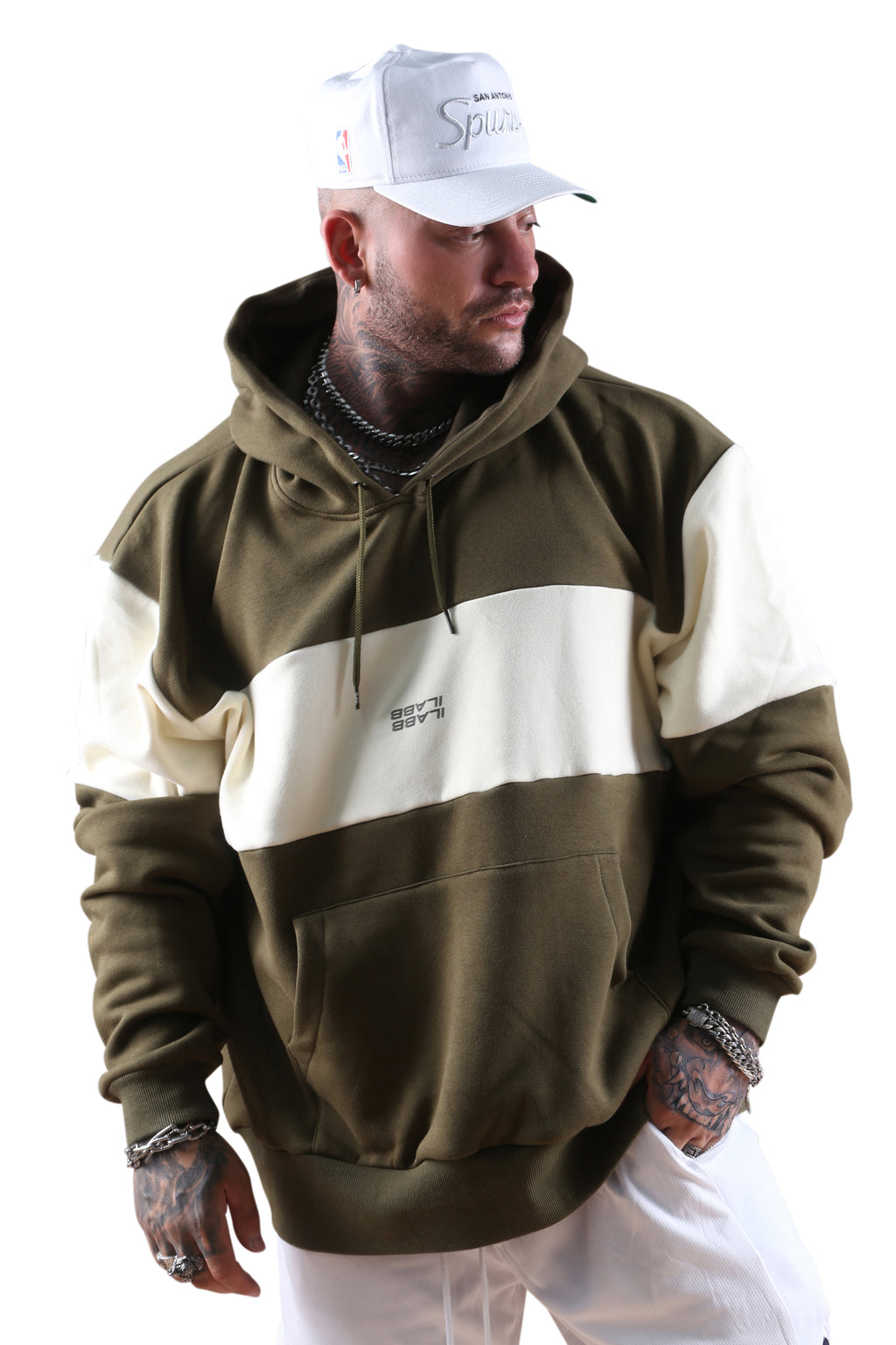 Ilabb Past Future Hood Olive/Off White