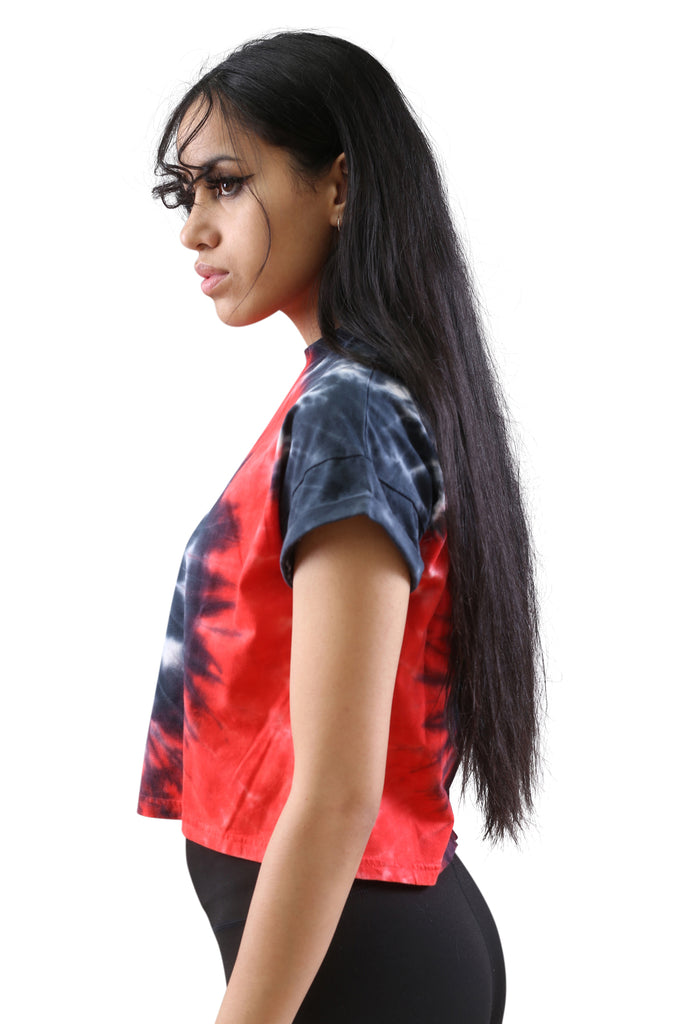 Ilabb Womens Wave Tee Red/Black