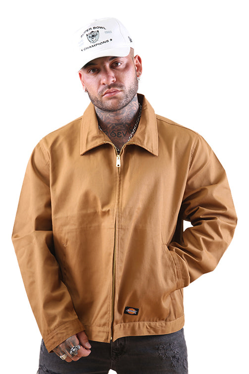 Dickies Eisenhower Unlined Jacket Brown Duck Front