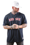 Majestic Red Sox Wordmark Replica Jersey Navy Front