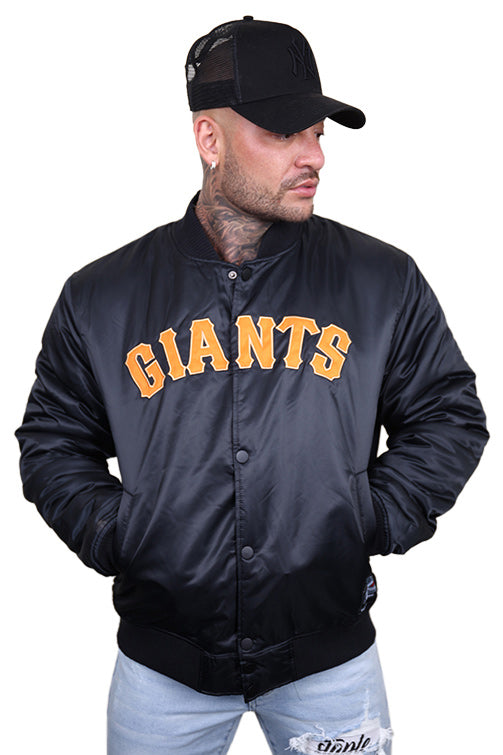 Majestic SF Giants Team Bomber Jacket Black Front