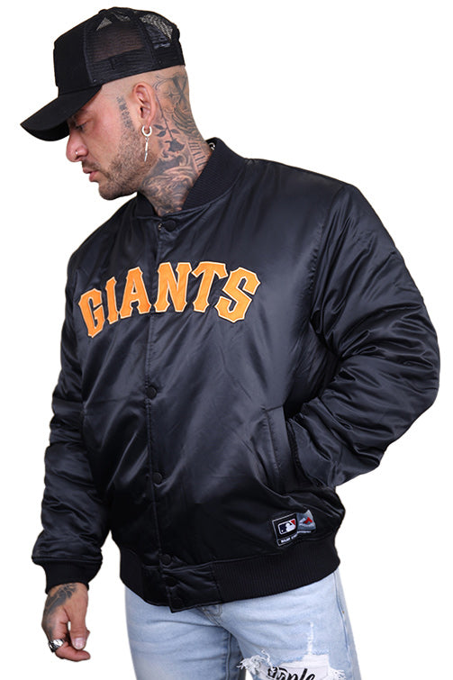 Majestic SF Giants Team Bomber Jacket Black Angle