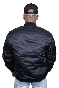 Majestic SF Giants Team Bomber Jacket Black Back