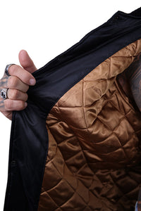 Majestic SF Giants Team Bomber Jacket Black Detail 3