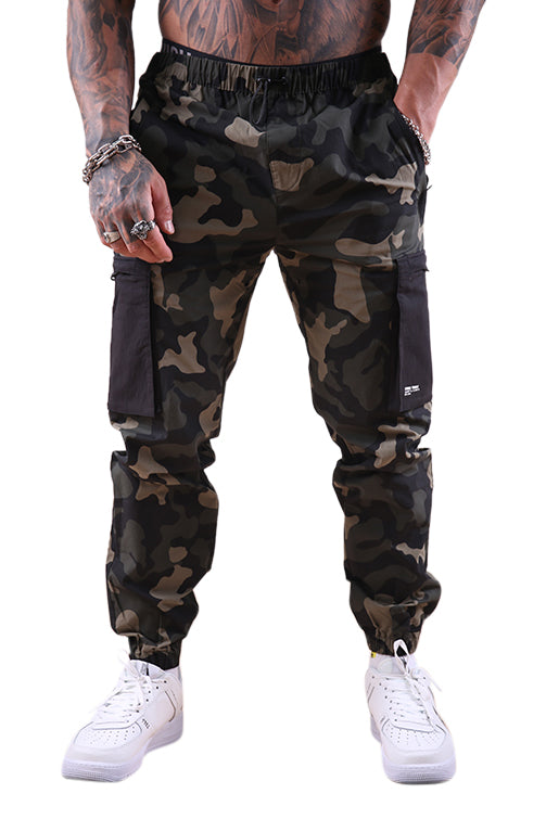 Thing Thing Bank Track Pant Night Camo Front