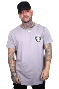 Majestic Raiders Kurent Scoop Hem Tee Smoke Front