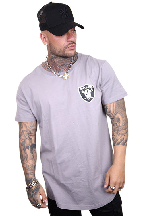 Majestic Raiders Kurent Scoop Hem Tee Smoke Angle