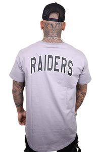 Majestic Raiders Kurent Scoop Hem Tee Smoke Back