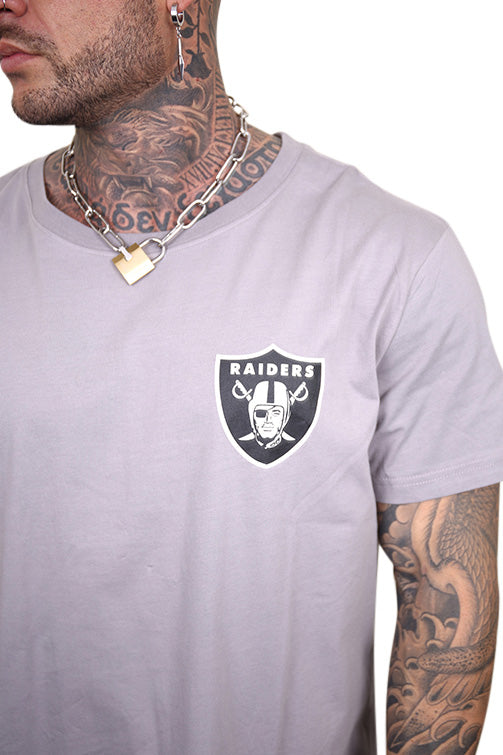 Majestic Raiders Kurent Scoop Hem Tee Smoke Detail