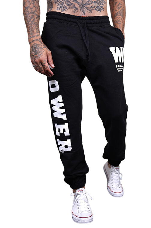 Lower Berkley Heavy Trackpants Black Front