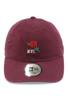 New Era Casual Classic NYC Rose Maroon Strapback Front