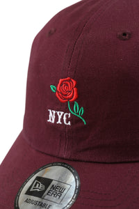 New Era Casual Classic NYC Rose Maroon Strapback Detail