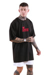 CRWND Dominant Oversized Tee Washed Black/Maroon