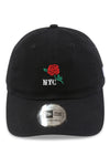New Era Casual Classic NYC Rose Black Strapback Front