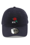 New Era Casual Classic NYC Rose Navy Strapback Front