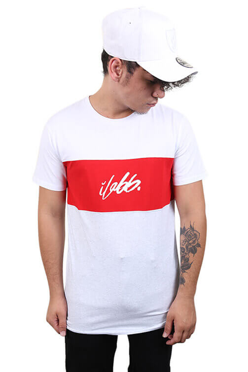 Ilabb Order Tee White/Grey/Red Front