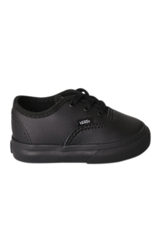 Vans Authentic Leather Black TODDLER