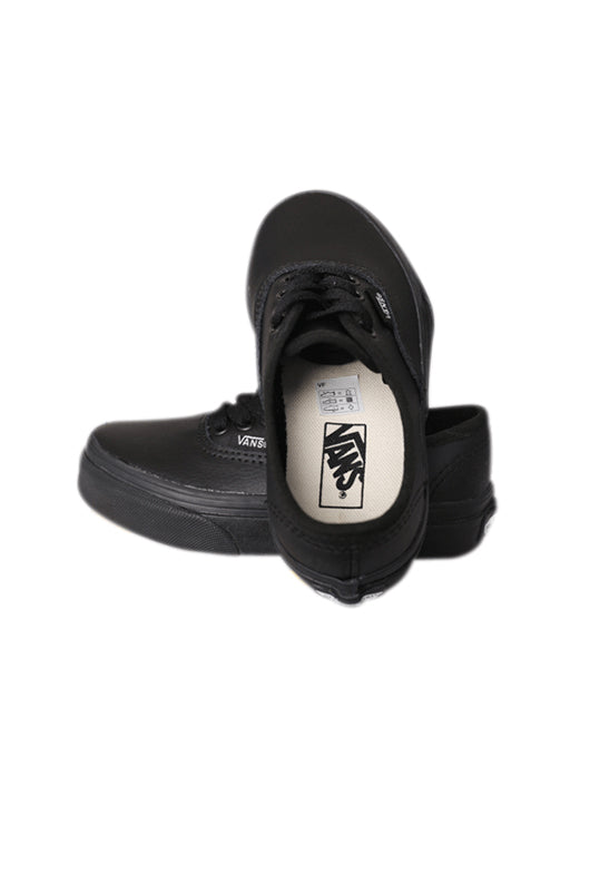 Vans Authentic Leather Black / Black YOUTH