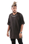 CRWND Restrained Oversized Tee Washed Black/Black