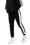 Ilabb Womens Tape Trackie Black