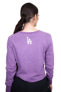 Majestic Womens LA Archy L/S Tee Purple Dusk Back