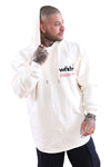 WNDRR Offcuts Curved Hem Hood Sweat Off White