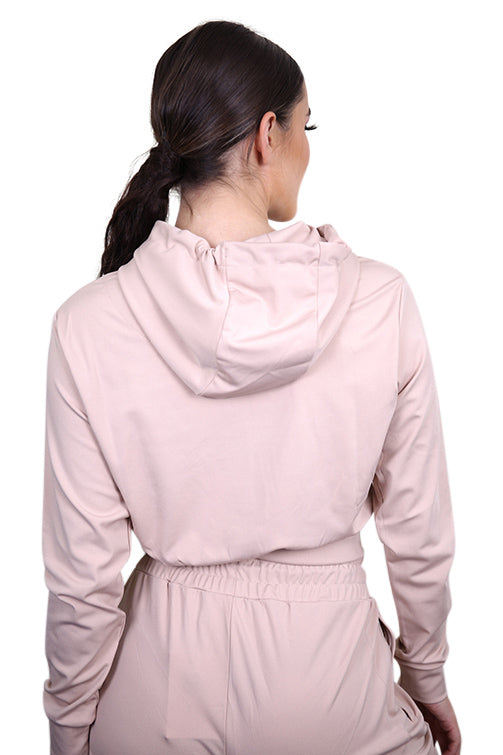 SikSilk Zonal Track Top Beige Back