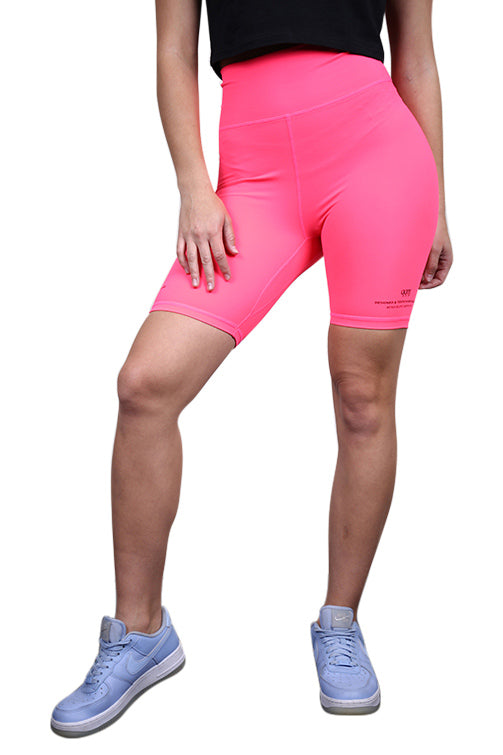 Ilabb Womens Festival Bike Shorts Neon Pink Front