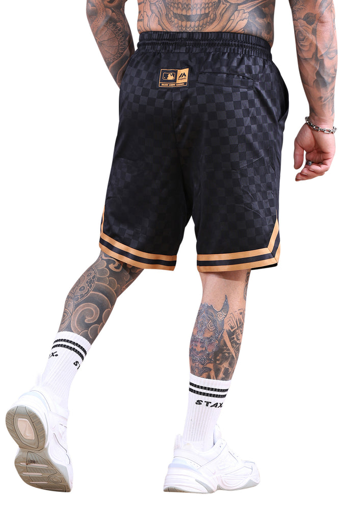 Majestic NY Bossed Off Court Short Black