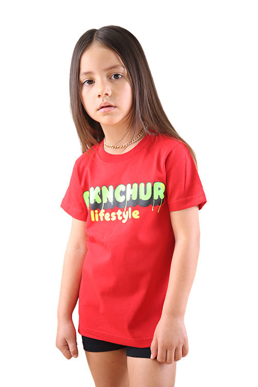 AFKNCHUR Slime Kids Tee Red