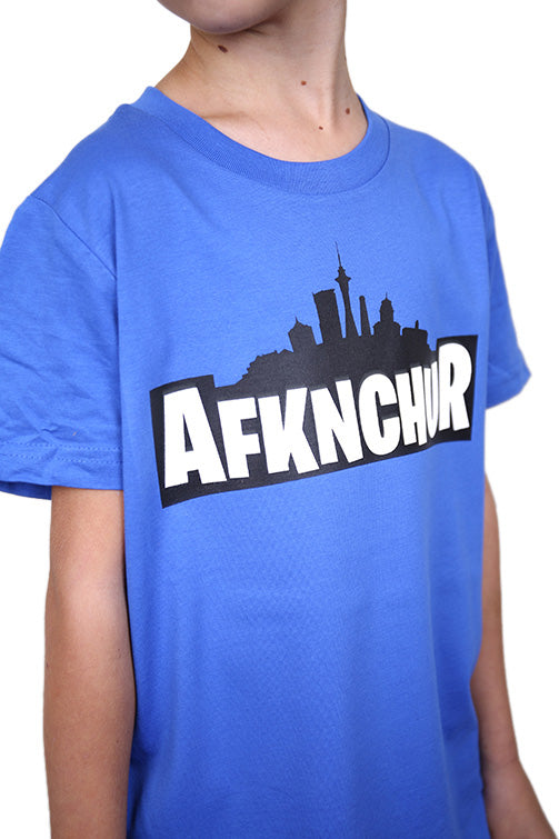 AFKNCHUR Kids Weeknite Tee Blue Detail