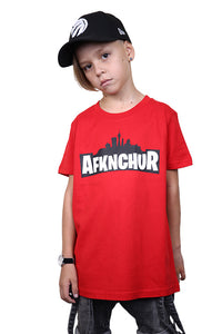 AFKNCHUR Kids Weeknite Tee Red Front