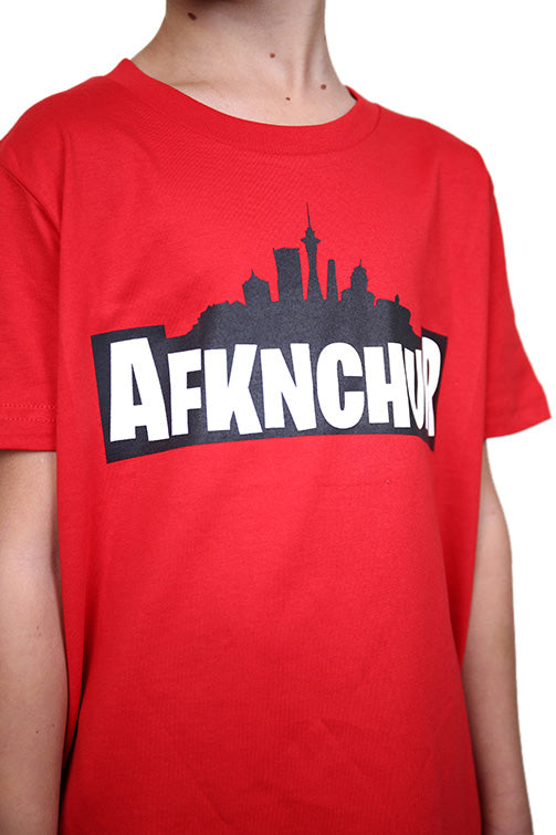 AFKNCHUR Kids Weeknite Tee Red Detail