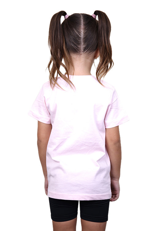 AFKNCHUR Kids Princess Tee Pink Back