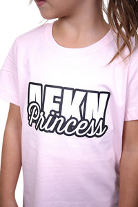 AFKNCHUR Kids Princess Tee Pink Detail